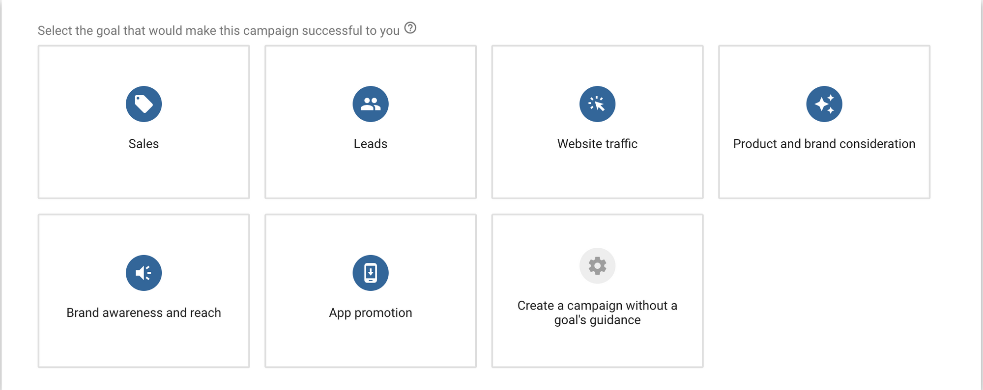 Google Ads Campaign Goal