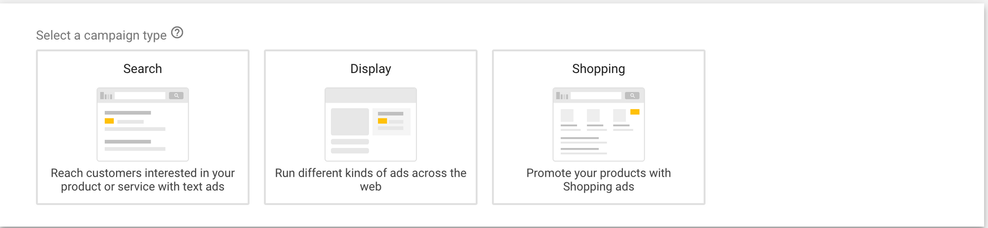 Google Ads Campaign Type
