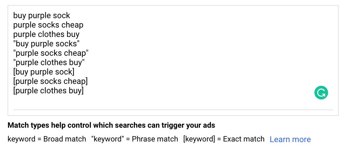 Google Ads Keyword Targeting