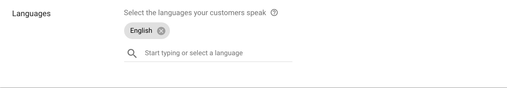 Google Ads language Targeting