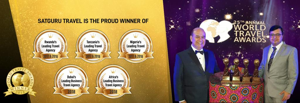 Satguru Travel is the proud winner of 25th annual world travel awards